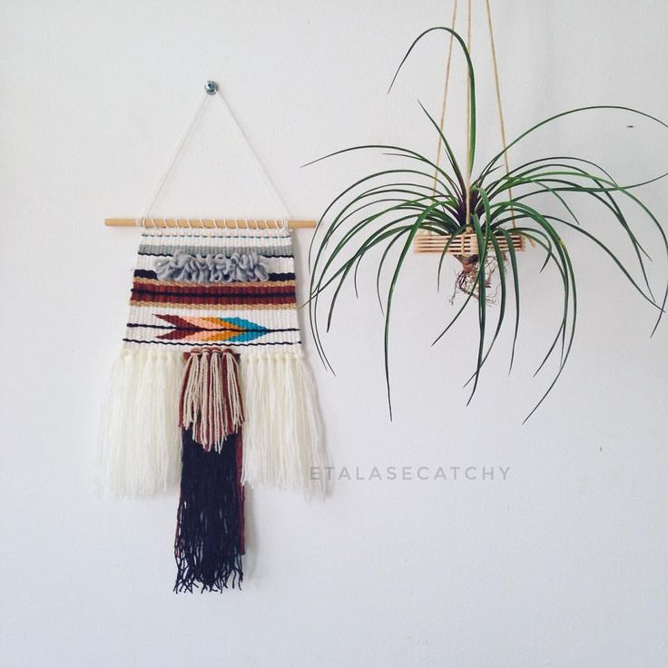 "33 Likes, 4 Comments - weaving • woven • macrame (@etalasecatchy) on Instagram: ""Woven Wall Hangings Size : 17 cm x 37 cm READY STOCK 1 PCS IDR 250,000 🌵0838-1110-9101 (WA) 🌵Line:…"""
