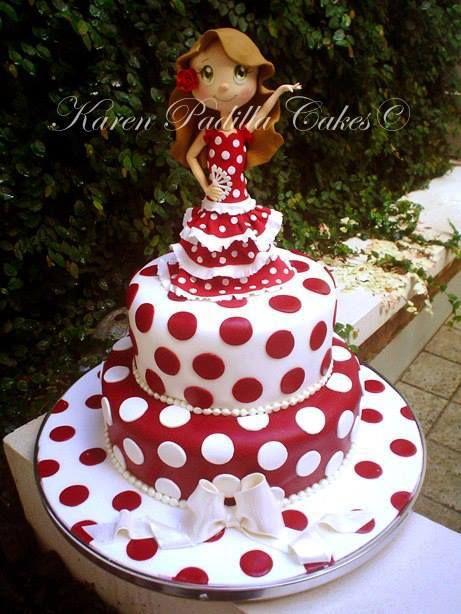 Flamenco dancer theme cake. We love the fondant work on this cake. #lamay http://www.bidorbuy.co.za/seller/1047710/La_May_Variety
