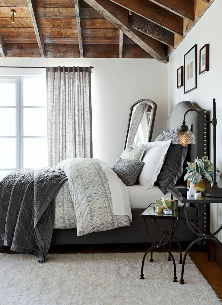 bedding idea for dark grey bed from overstock