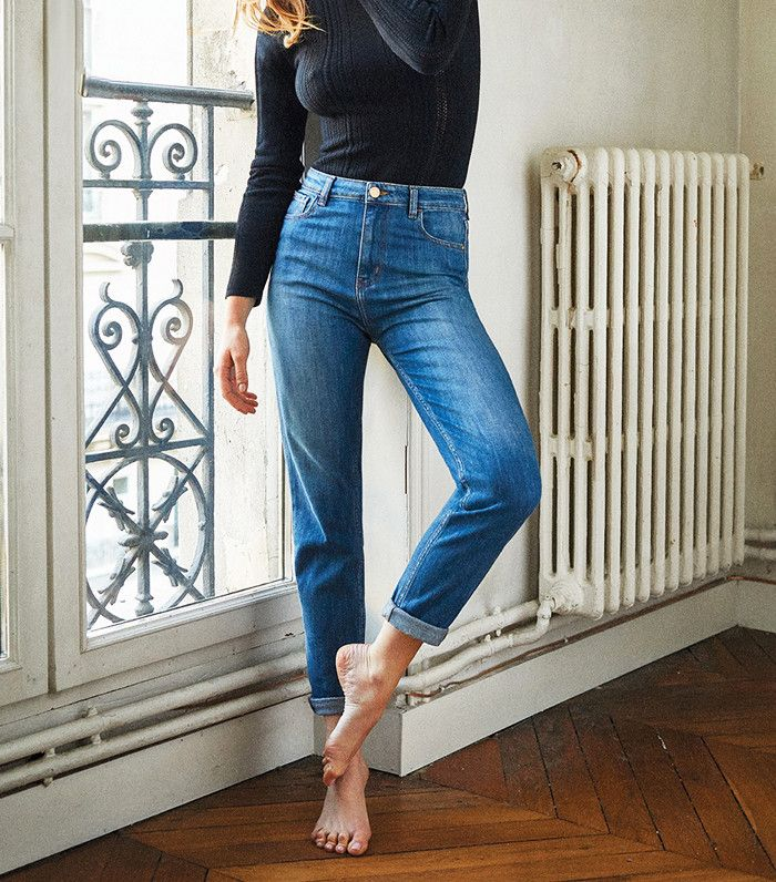 The Affordable Jeans Every French Girl Wanted Are Back in Stock via @WhoWhatWearUK