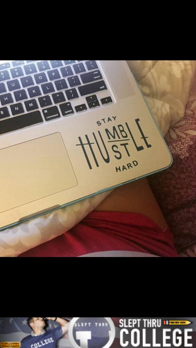 Stay humble hustle hard vinyl decal sticker by kareanddesign