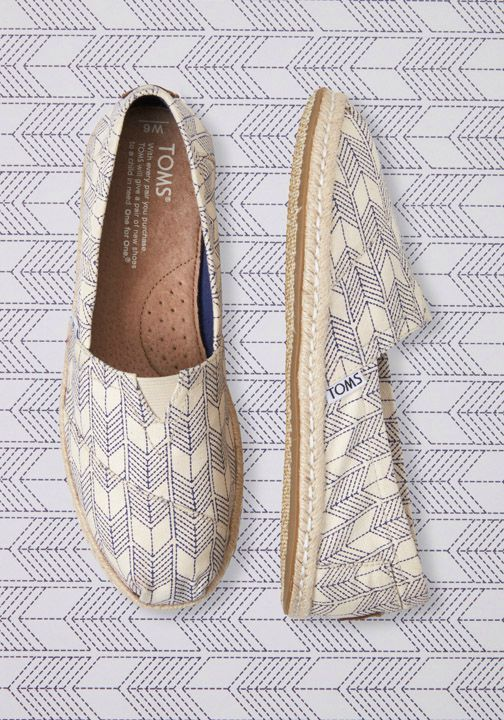 Making a statement, and helping those in need, just got a whole lot easier with TOMS.