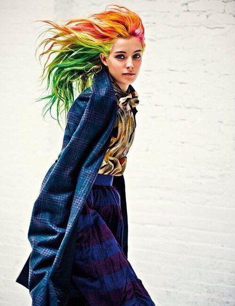Разноцветные волосы-прядки на заколках (Москва)