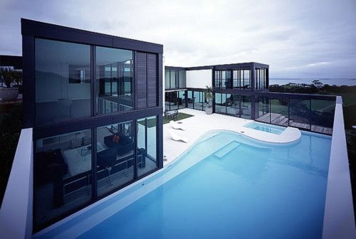 Glass house: Favorite Places, Dream House, Architecture, Modern House, Pools, Modern Homes, Design