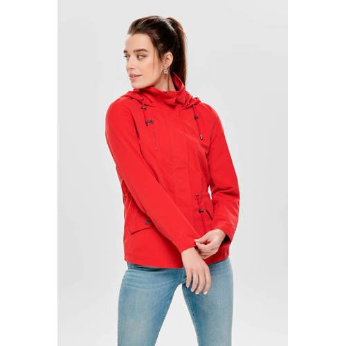 ONLY jas met capuchon rood | Products in 2019 Jas