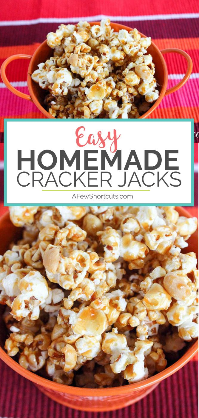 Easy Homemade Cracker Jacks Recipe Homemade Crackers Cracker