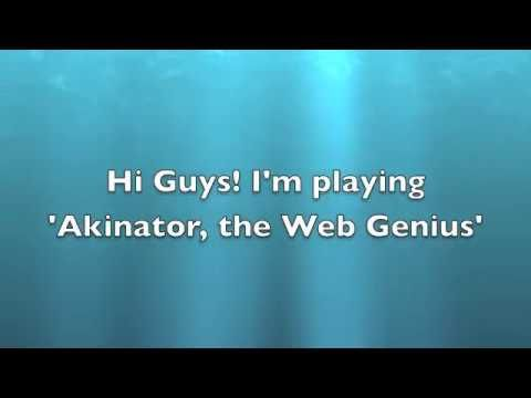 The Akinator (He Knows so Much, it's creepy!)