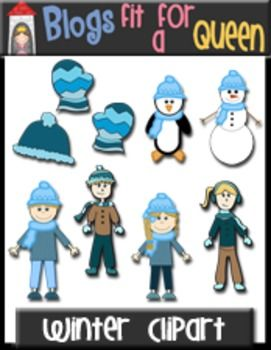 Designs by Court freebie on TpT=Free winter clipart!