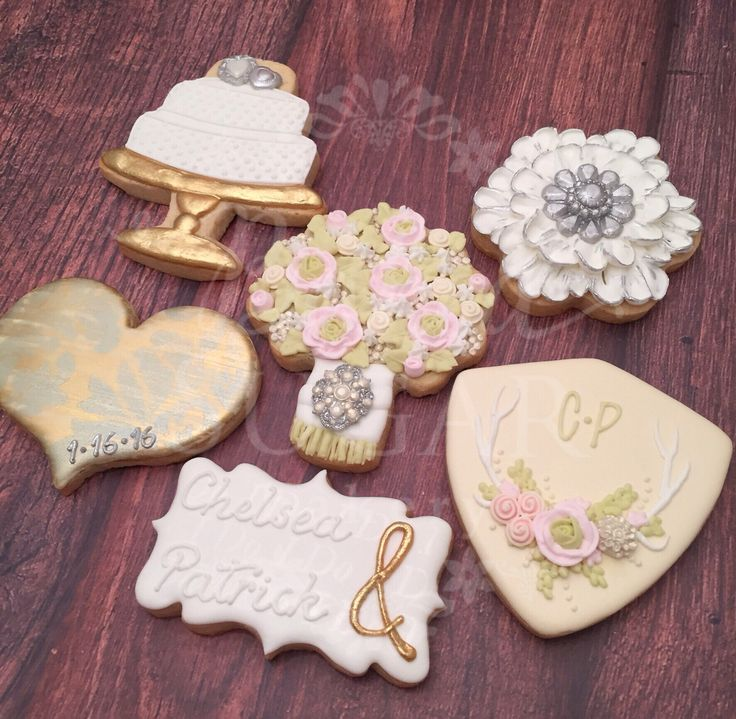 Surprise engagement party cookies