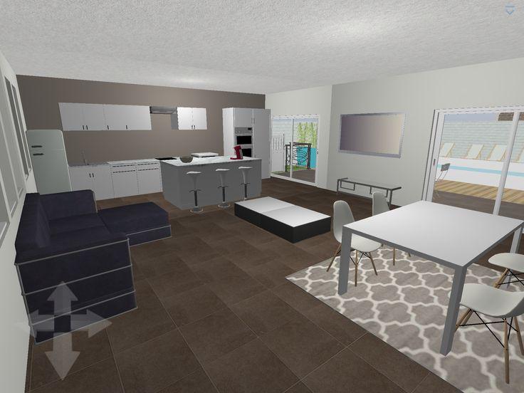 17 best ideas about logiciel cuisine 3d on pinterest for Plan de cuisine ouverte sur salle a manger