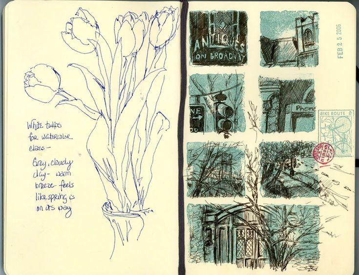 // sketchbook // Quotidian Curiosities: Moleskine 2