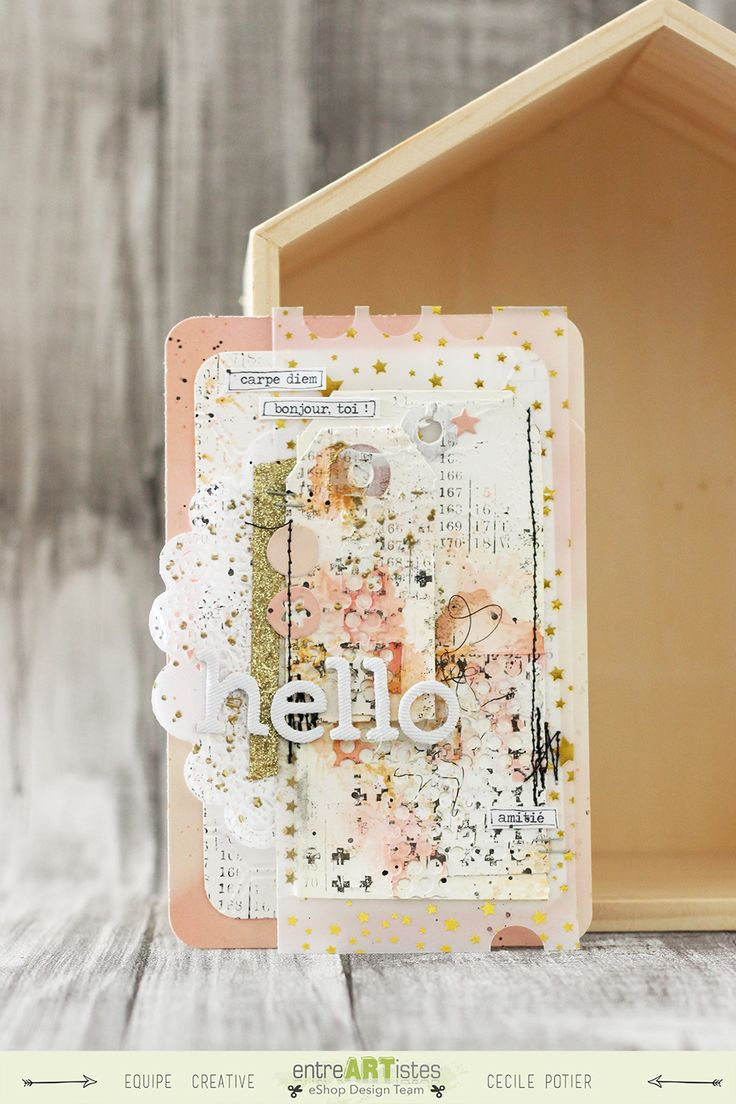 Card by @Kwiick // Hello // Mixed media // Semaine spéciale carterie // Eshop @entreartistes