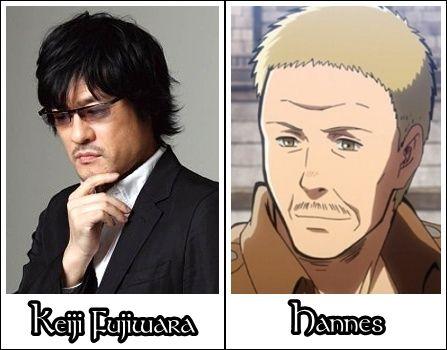 Keiji Fujiwara is the original voice actor of Hannes (Shingeki no Kyojin)