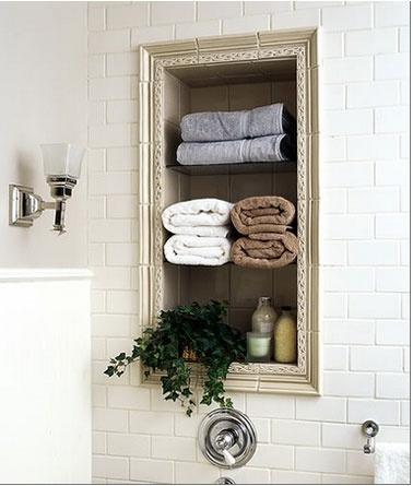 Pour mettre en valeur le placard de la salle de bains                                                                                                                                                      Plus
