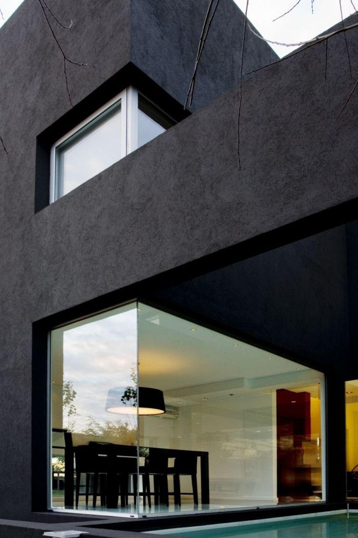 ~ loving these black modern homes. #black #architecture #modern #minimalist