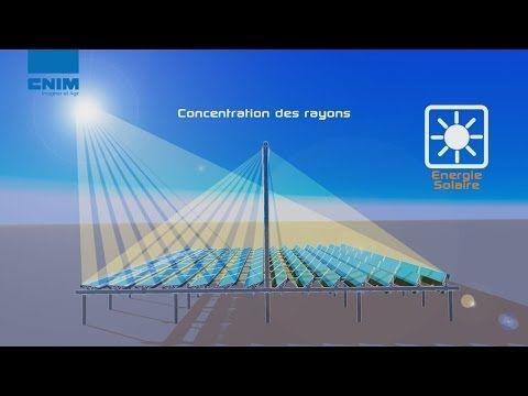 Centrale solaire Thermodynamique Réflecteur à miroirs de Fresnel linéaires par CNIM - Centrale solaire Thermodynamique - YouTube