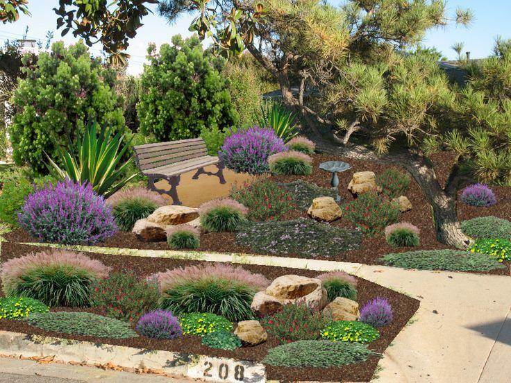 image result for low water backyard landscape design