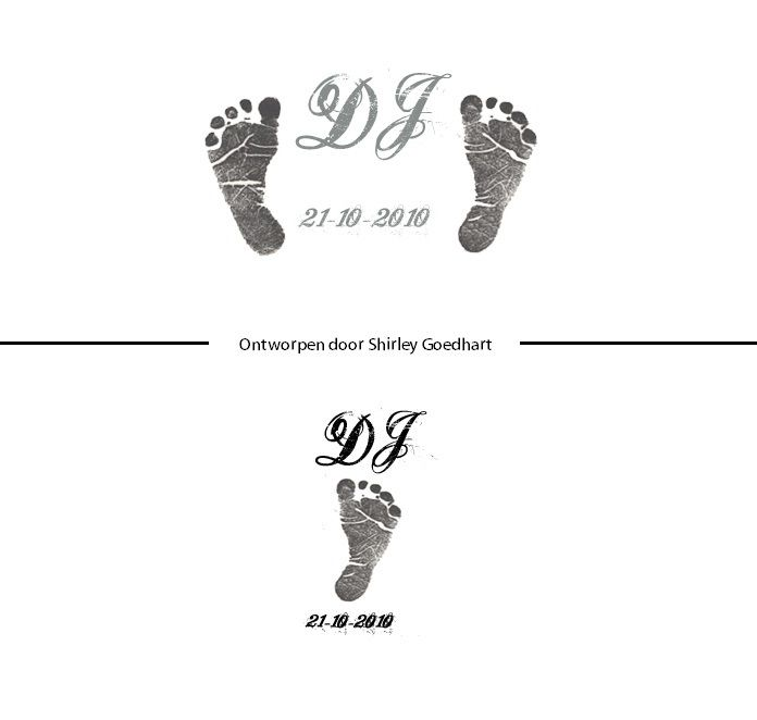 Or maybe I'll just do tiny baby feet in white
