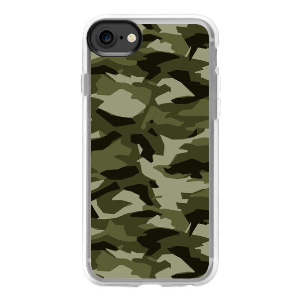 Geo-Camo (Army) - iPhone 7 Case And Cover ($40) ❤ liked on Polyvore featuring accessories, tech accessories, phone cases, phones, case, iphone case, iphone cases, iphone cover case, clear iphone case and apple iphone case