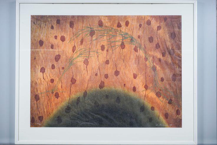 Outi Kirves: Lampi, 1998, puupiirros, 71x97 cm, edition 20/20 - Huutokauppa Helander 09/2015