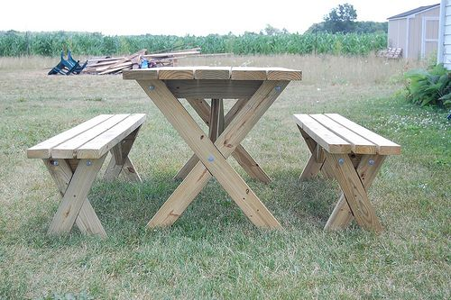 Picnic table benches how to...