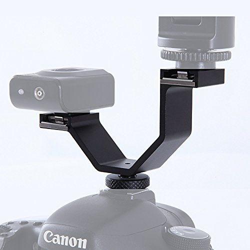 Micnova MQ-DHA Heavy-Duty Video Camera Accessory Dual Shoe Bracket Adapter Mount for Video Lights, LED Monitors, Microphones, Studio Flash and Audio Recorder (balck)