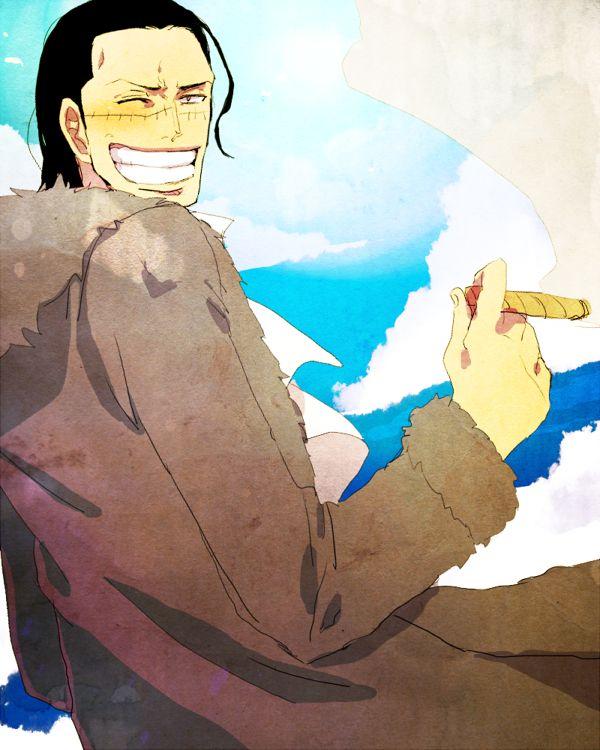 Tags: Anime, Smoking, ONE PIECE, Pirate, Sir Crocodile, Shichibukai, Cigar