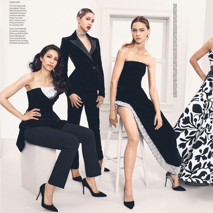 Dream Team: Political aid Huma Abedin, Princess Maria- Olympia of Greece, model Sasha Pivovarova, and Fashion Editor/ Social Naty Abascal…