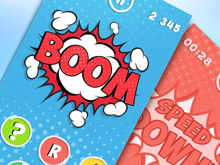Comics Style Game | UX, UI, iOS by Ramotion
