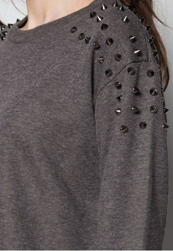Studded Sweater Top