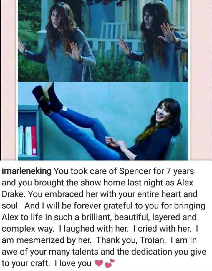 Alex Drake made perfect sense to me. I am glad that the blame wasn't put on someone ridic like Lucas or Caleb just because they are the tech guys. Troian's performance was phenomenal and I have so much of respect for her and all the other girls and Marlene as well. #littleliarforever