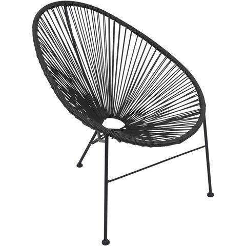 Loungestol, konstrotting och underrede av pulverlackerat stål, antracitgrå…