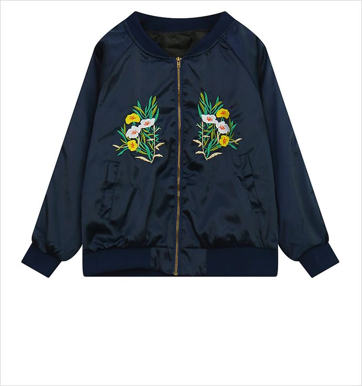 US $20.89 -- Lovely Embroidered Flowers Baseball Jacket 2016 Autumn Loose Chaquetas Fashion Harajuku Women Jackets Cozy Satin Bomber Jackets aliexpress.com