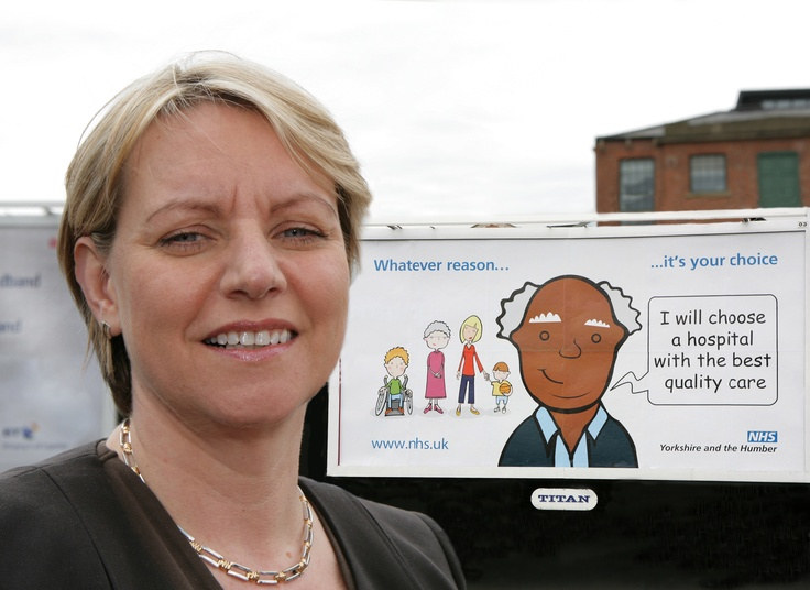 CEO of NHS with Choices billboard campaign