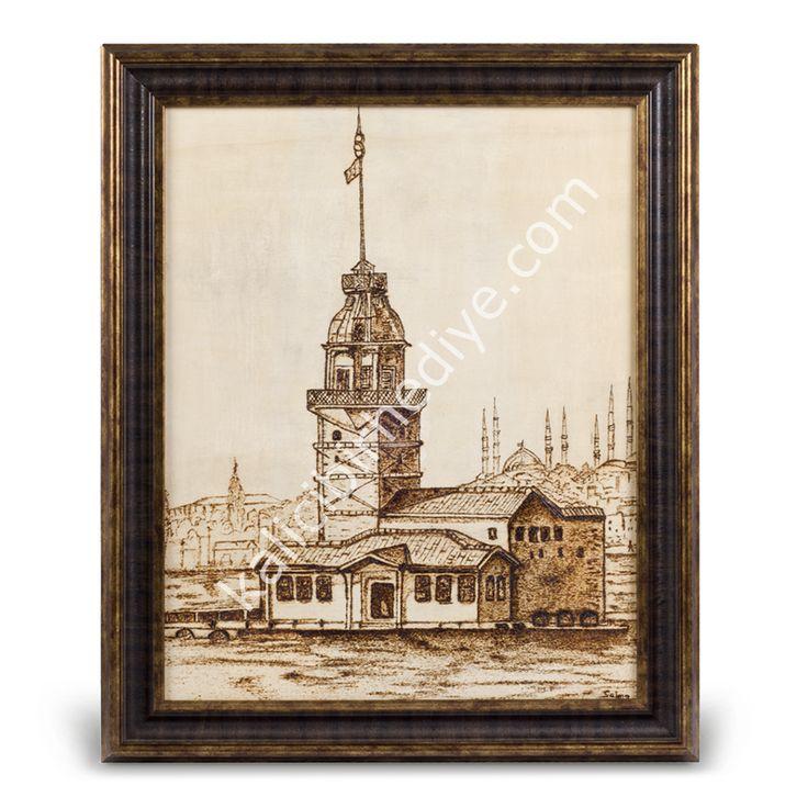 Kız Kulesi (Ahşap Yakma Sanatı)