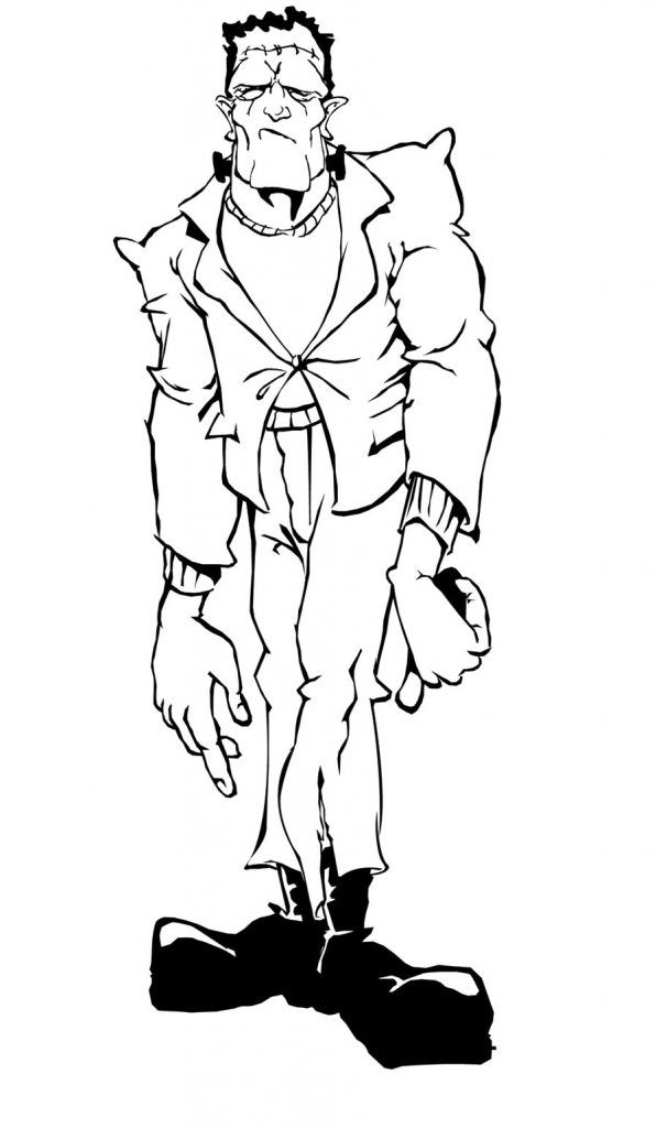 Frankenstein Coloring Pages Best Coloring Pages For Kids Monster Coloring Pages Cartoon Coloring Pages Halloween Coloring Pages
