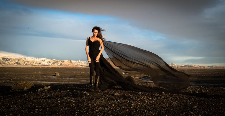 Last year I was asked to create a custom gown for Dierks Bentley's new  album video Black.  An intense landscape in Iceland, yards upon yards of  flowing black silk chiffon, and a custom dress based on our Artemisa and  Dianthus gowns made this a phenomenally fun creative project for me, not to  mention a pretty stark contrast to my daily realm of white!  His wife  Cassidy wears it incredibly well - hope you enjoy!    Head over to Rolling Stone to see more.   Buy Link: http://u...