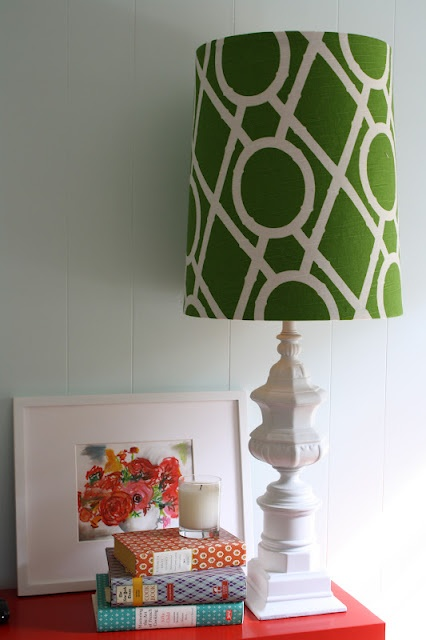 how to recover a lampshade - SO EASY!