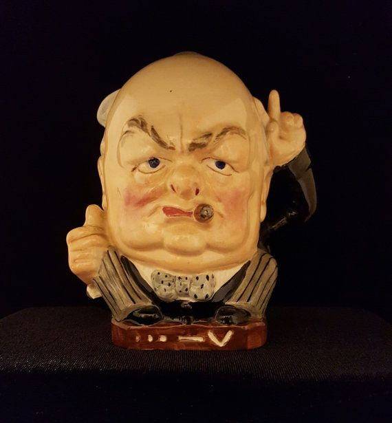 Winston Churchill  V for Victory  Burleigh Ware by HathawayCandC