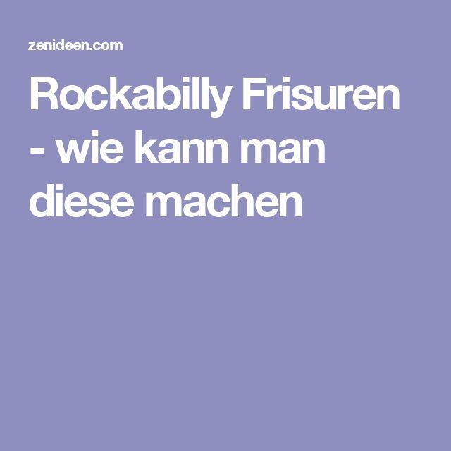 Rockabilly Frisuren - wie kann man diese machen