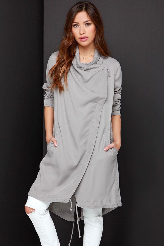 BB Dakota Ragni Grey Jacket at Lulus.com!
