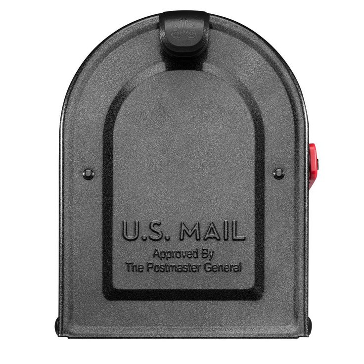 mailboxes mb1 post mount mailbox pewter with red flag