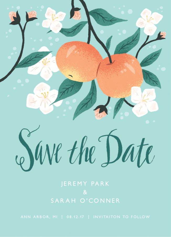 Apple Save The Date card by Emma Trithart on Postable.com