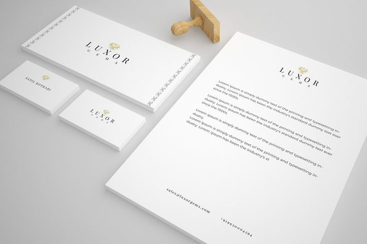 Corporate Identity and Starter Kit for Luxury Jewelry Brand