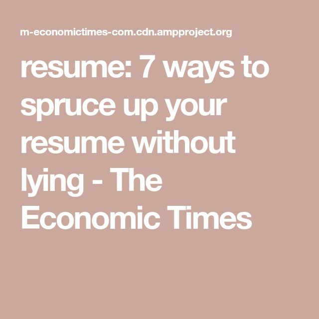 The 25+ best Economic times ideas on Pinterest Economic times - lying on resume