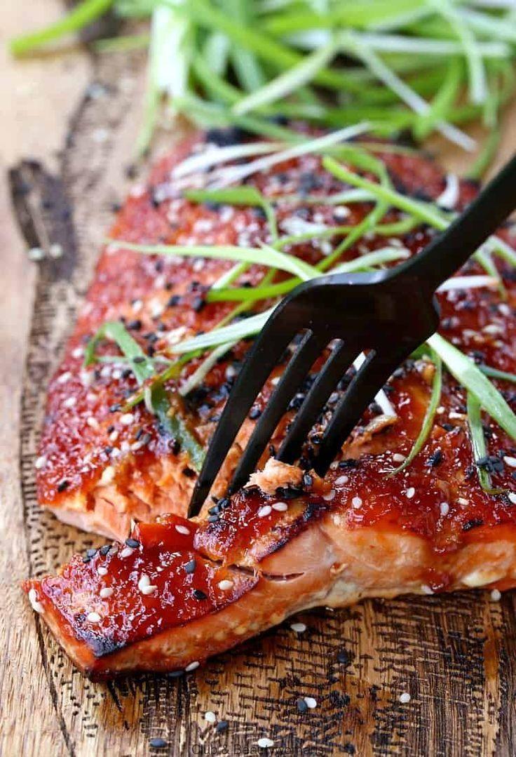 Baked Asian Bbq Salmon Asian Baked Bbq Dinner Easy Healthy