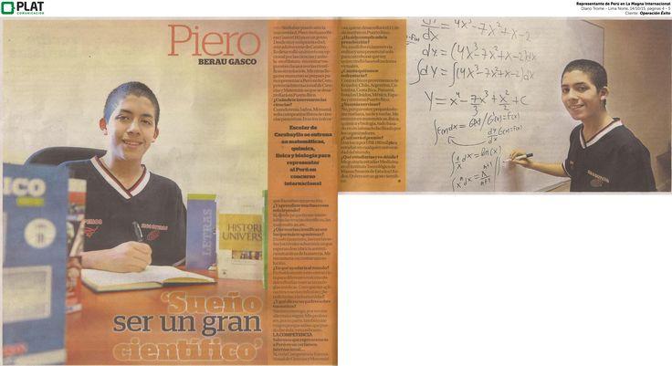 Operación Éxito: Representante en La Magna Competencia en el diario Trome de Perú (14/10/15)