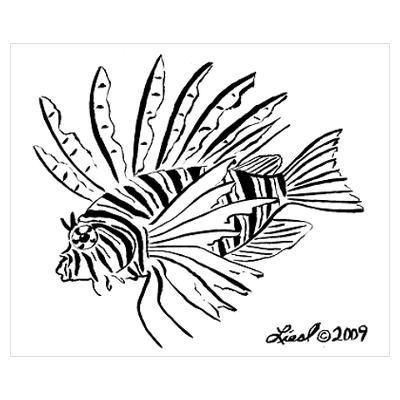 Lionfish Drawing Google Search Art Fish Art