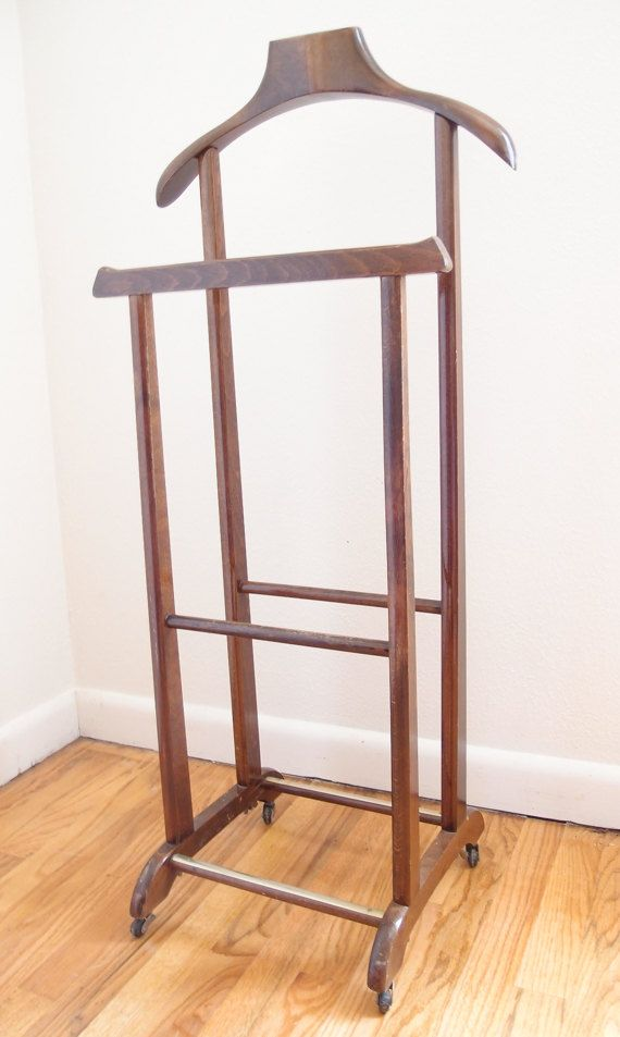 valet stand butler suit stand danish modern decor mid. Black Bedroom Furniture Sets. Home Design Ideas