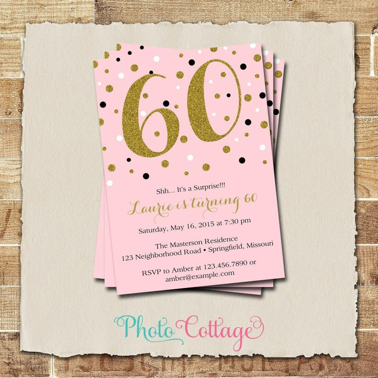 463 best birthday invitations template images on pinterest 60th birthday invitations for dad stopboris Images